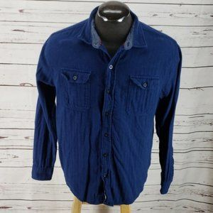 Woolrich Blue Button Down long sleeve dress Shirt